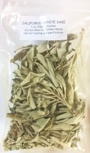 "California White Sage ""Grandfather Sage"" Loose for Smudging (1oz)"
